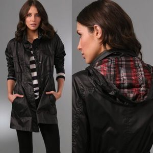 [Theory] Hattie Swagger Jacket Rain Trench Hood L